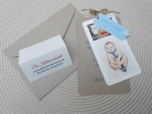 Danksagung-Geburt-Anhänger-Kraftpapier