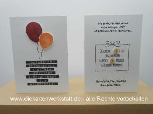 Geburtstag Ballon Geschenkpapier