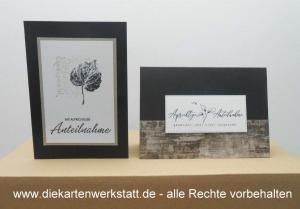 Trauerkarte hochkant und quer mit gestempelten Motiven, TK 4