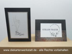 Trauerkarte hochkant und quer mit gestempelten Motiven, TK 2