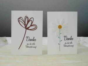 Dankeskarten mit Blumen