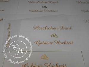 Goldene Hochzeit Dank C6 quer naturelle