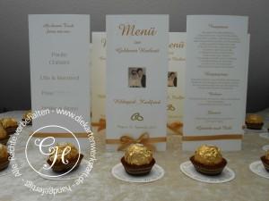 Goldene Hochzeit Menükarten 1