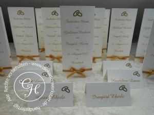 Goldene Hochzeit Menükarten 2
