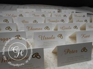 Goldene Hochzeit Namenskarte