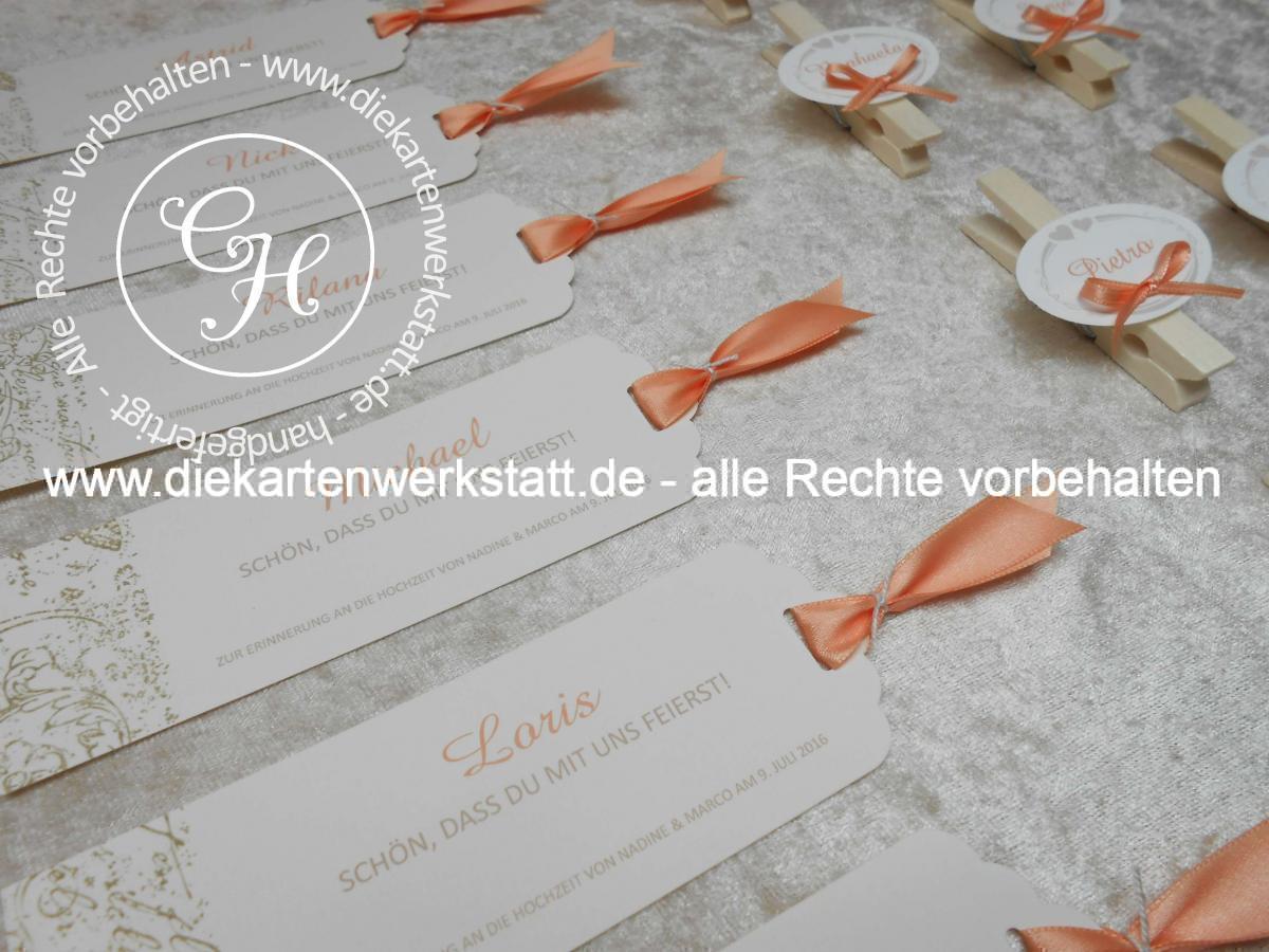 Hochzeits-Gastgeschenk Lesezeichen