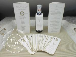 Flaschenanhänger Piccolo für jeden Gast passend zur restlichen Papeterie