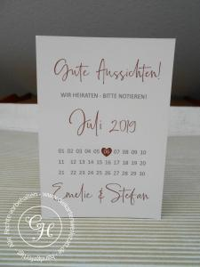 Save the date Karte schlicht mit Kalenderblatt