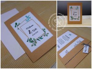 Hochzeitseinladungen Eukalyptus greenery