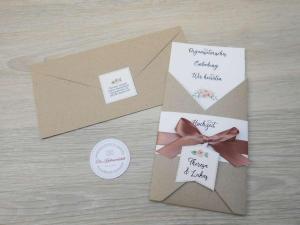 Hochzeitseinladung im Envelope-Stil - ein bisschen vintage mit altrosa