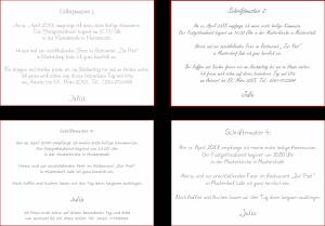 Schriftarten Kommunion 1-4
