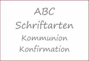 Schriftarten für Kommunion/Konfirmation