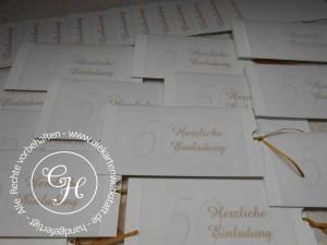 Goldene Hochzeit DIN lang mit Einschub