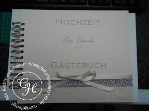 Gästebuch Vintage mit Baumwollspitze