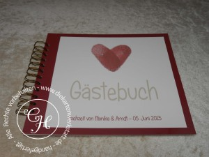 Gästebuch rosso mit Fingerprint
