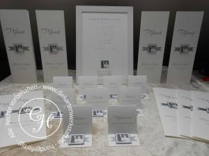 Silberne Hochzeit Am Tisch