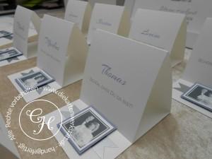 Silberne Hochzeit Namenskarten